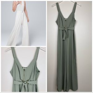🆕Nordstrom Women's Jumpsuit Green Sleeveless Zip